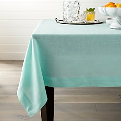 "Helena Sky 60""x90"" Linen Tablecloth"