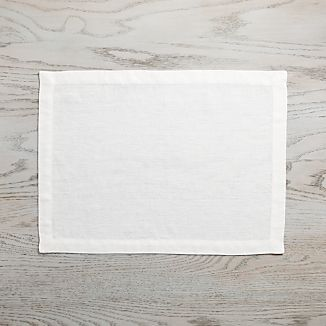 Helena Vanilla White Linen Placemat