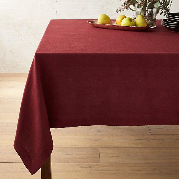 """Helena Zinfandel Red Linen Tablecloth 60""""x90"""""""