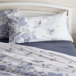 Henna Leaf Blue King Pillow Sham
