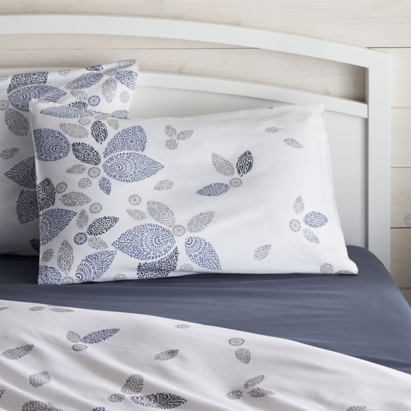 Henna Leaf Blue Standard Pillow Sham