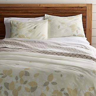 Henna Leaf Gold Duvet Covers and Pillow Shams