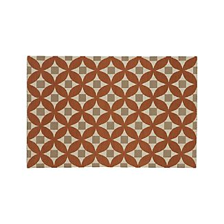 Henny Orange Wool 8x10 Rug
