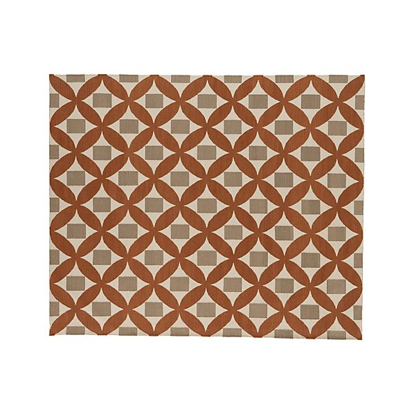 Henny Orange Wool 8'x10' Rug