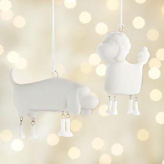 Dangling Legs Dog Ornaments