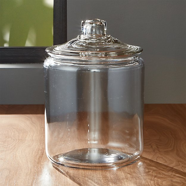 Heritage Hill 128 Oz Glass Jar With Lid Crate And Barrel