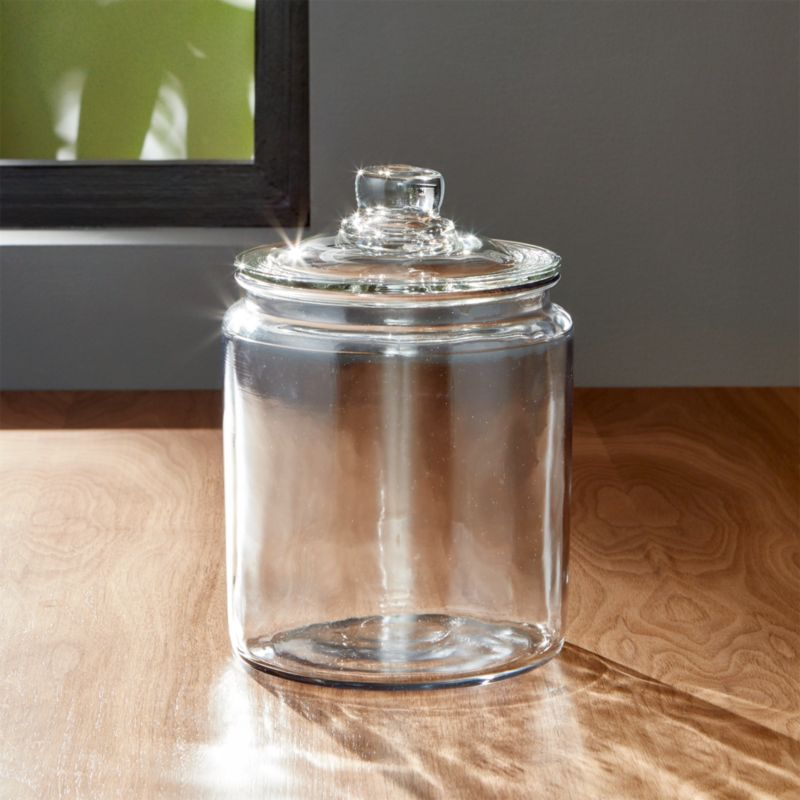heritage hill 64 oz glass jar with lid crate and barrel. Black Bedroom Furniture Sets. Home Design Ideas