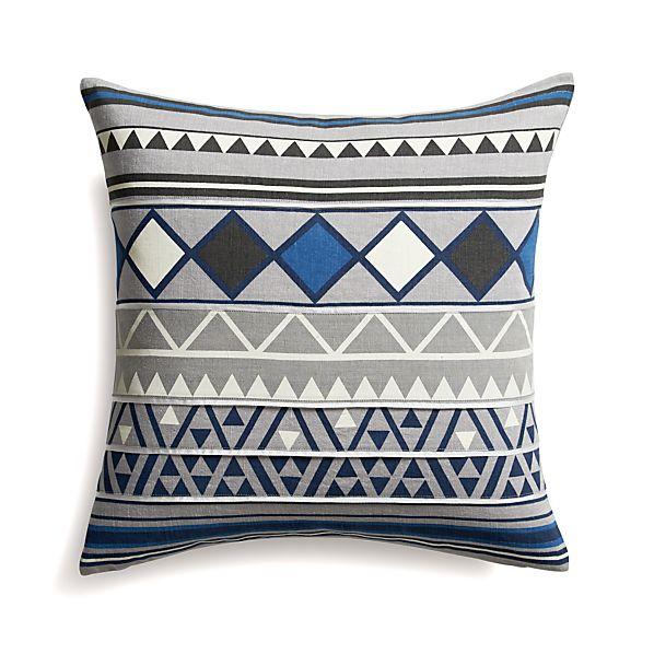 "Hira 18"" Pillow with Down-Alternative Insert"