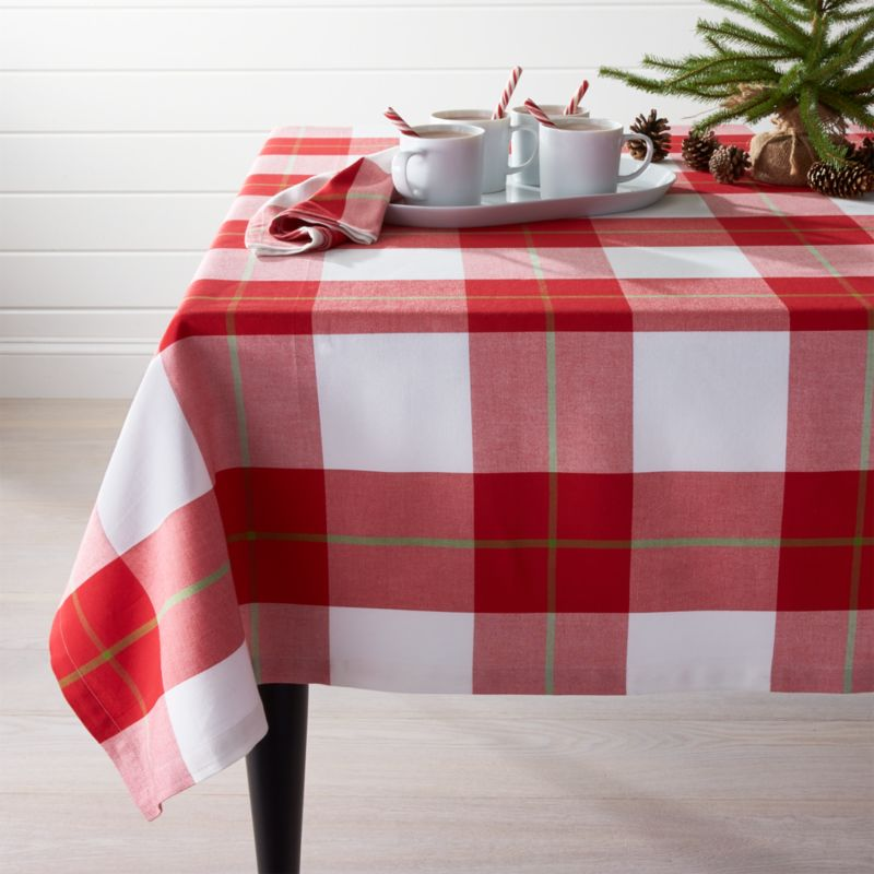 "Holiday Plaid Tablecloth 60""x120"""