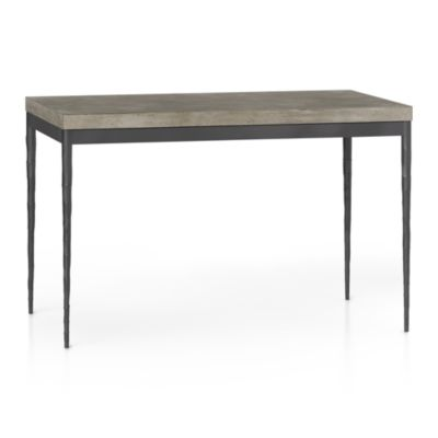 Concrete Top/ Hammered Base 48x28 Dining Table