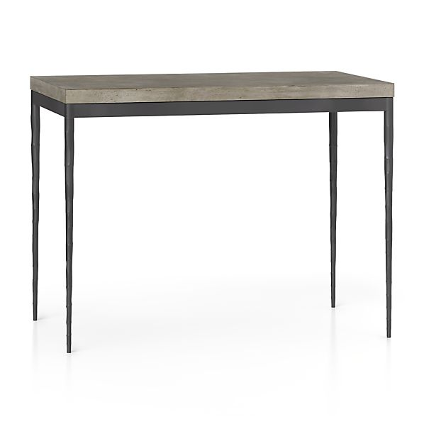 Concrete Top/ Hammered Base 48x28 High Dining Table
