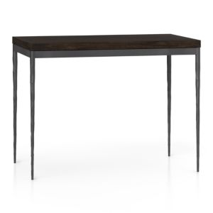 Myrtle Top/ Zinc X-Base 48x28 High Dining Table