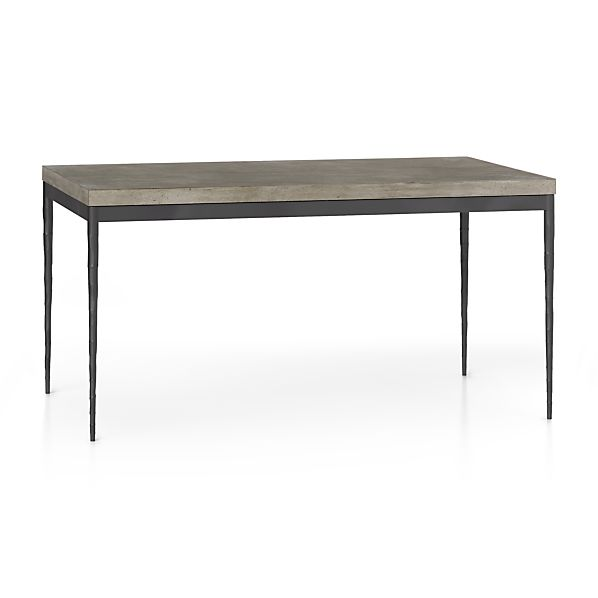 Concrete Top/ Hammered Base 60x36 Dining Table
