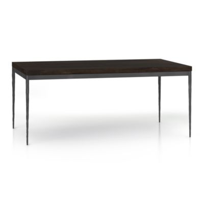 Myrtle Top/ Hammered Base 72x42 Dining Table
