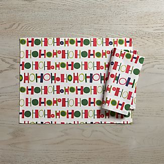 Ho Ho Ho Easy-Care Placemat and Napkin