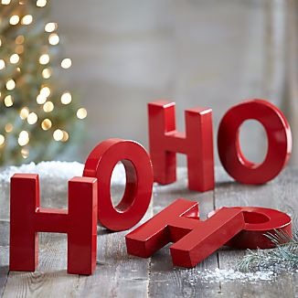 Set of 6 Ho Ho Ho Letters