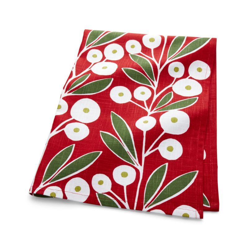 Holiday Botanical Dish Towel