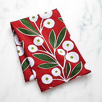 Holiday Botanical Dish Towel