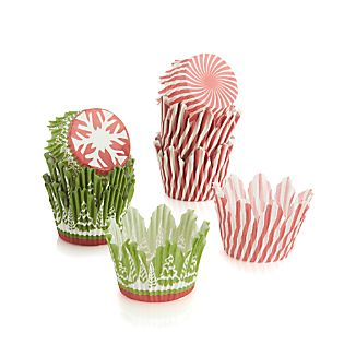 Scalloped Holiday Cupcake Papers Set of 48