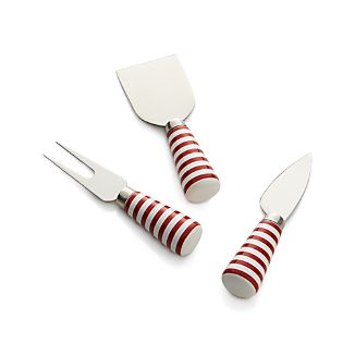 Set of 3 Holiday Cheese Knives