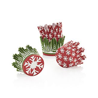 Set of 48 Holiday Cupcake Papers