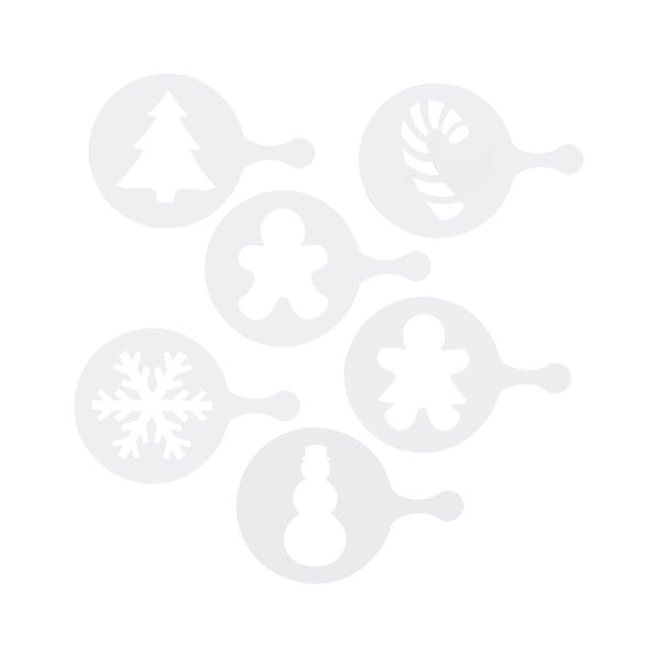 Set of 6 Holiday Decorating Stencils