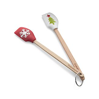Set of 2 Holiday Mini Silicone Spatulas
