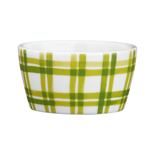 Holiday Green Plaid Ramekin