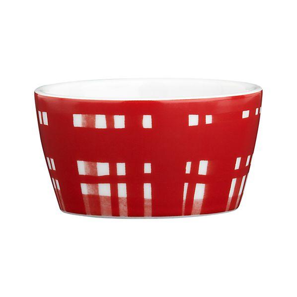 Holiday Red Plaid Ramekin