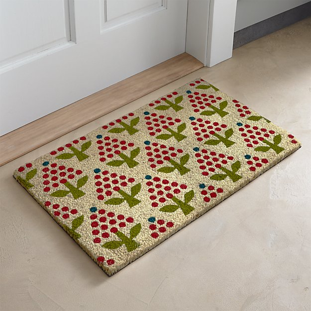 Holiday Topiary Coir Doormat