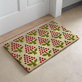 Holiday Topiary Coir Doormat
