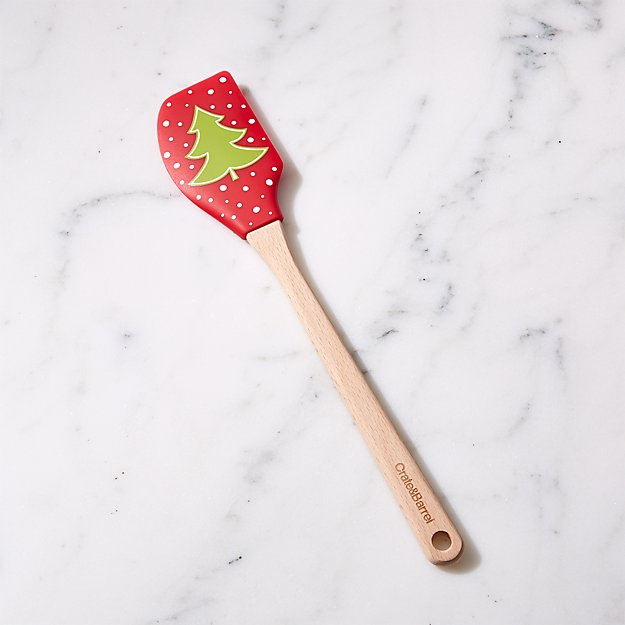 Holiday Tree Silicone Spatula