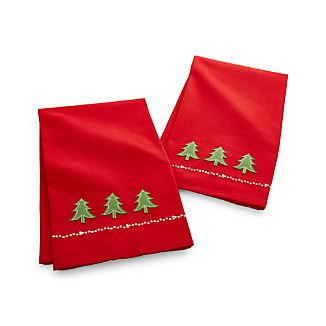 Holiday Tree Dish Towels Set of 2