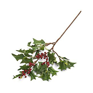 Holly Artificial Flower Stem
