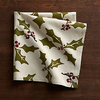 Holly Cotton-Linen Dinner Napkin