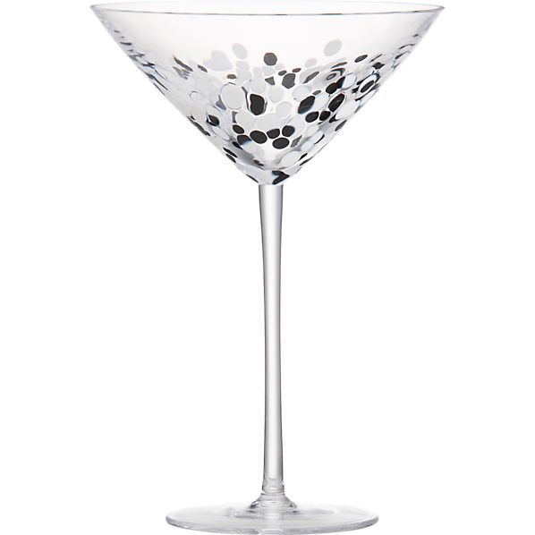 Hollywood Black and White Martini Glass