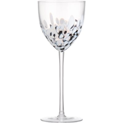 Hollywood Black and White Wine Glass