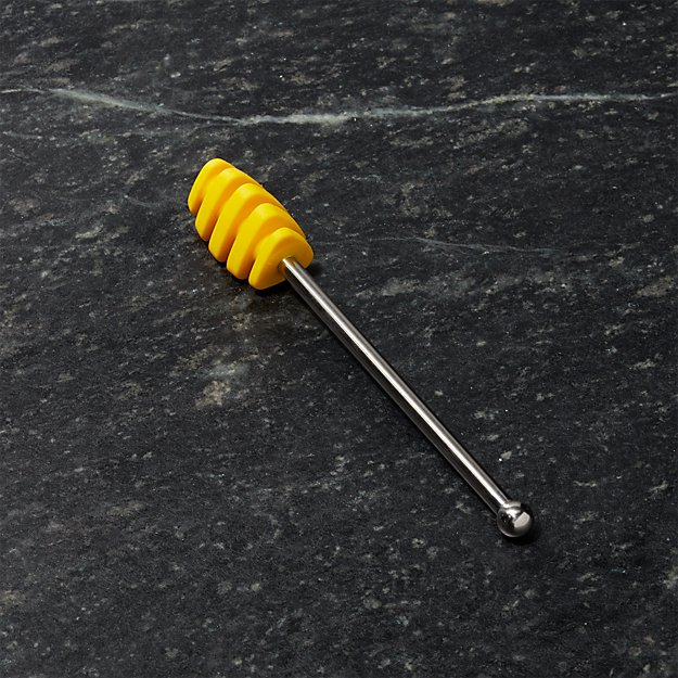 Yellow Silicone Honey Dipper