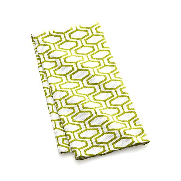 Honeycomb Green Dish Towel