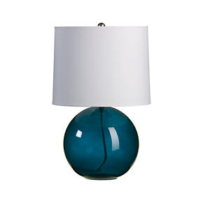 Teal Table Lamps on Crate And Barrel   Hoopla Teal Table Lamp Customer Reviews   Product
