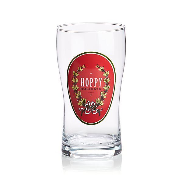 Hoppy Holidays Beer Glass