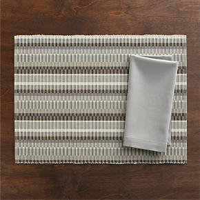 Horizon Placemat and Cotton Dove Napkin -...