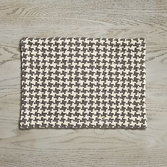 Houndstooth Grey Placemat
