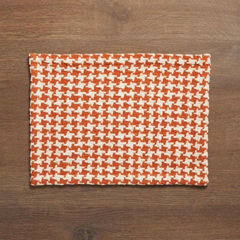 Houndstooth Orange Placemat