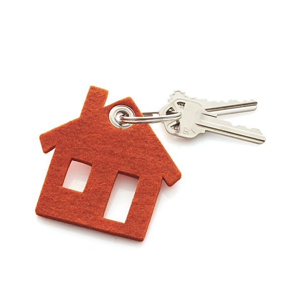 House Felt Keychain