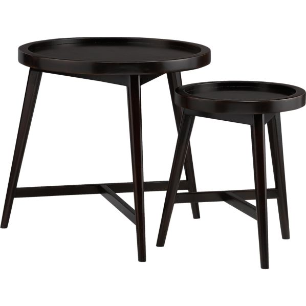 Set of 2 Hudson Round Nesting Tables