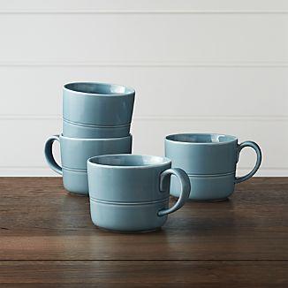Set of 4 Hue Blue Mugs