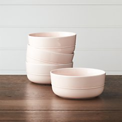 Set of 4 Hue Blush Bowls