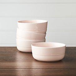 Set of 4 Hue Blush Bowls