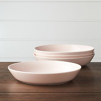 Set of 4 Hue Blush Low Bowls